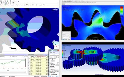 修形圓柱齒輪齒面應力分析